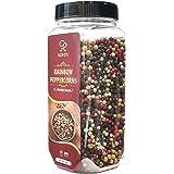 Soeos Mezcla de pimienta negra entera (8 onzas), mezcla de pimienta de maíz, granos de pimienta blanca entera, mezcla de pimi