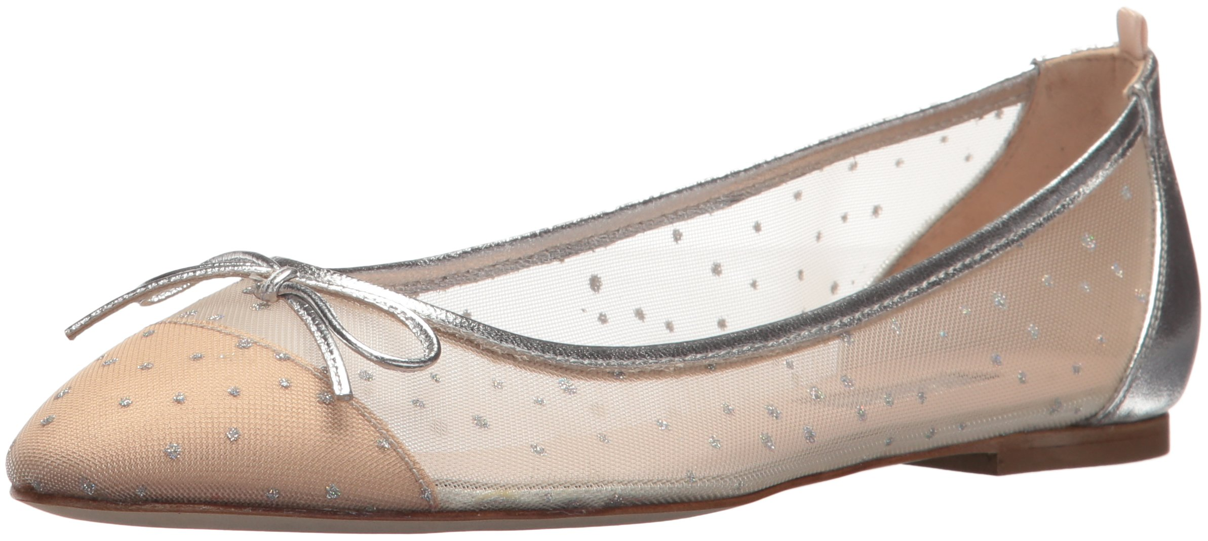 SJP by Sarah Jessica Parker Women's First Dance Ballet Flat, Ivey Raindrops Fabric, 37.5 B EU (7 US)