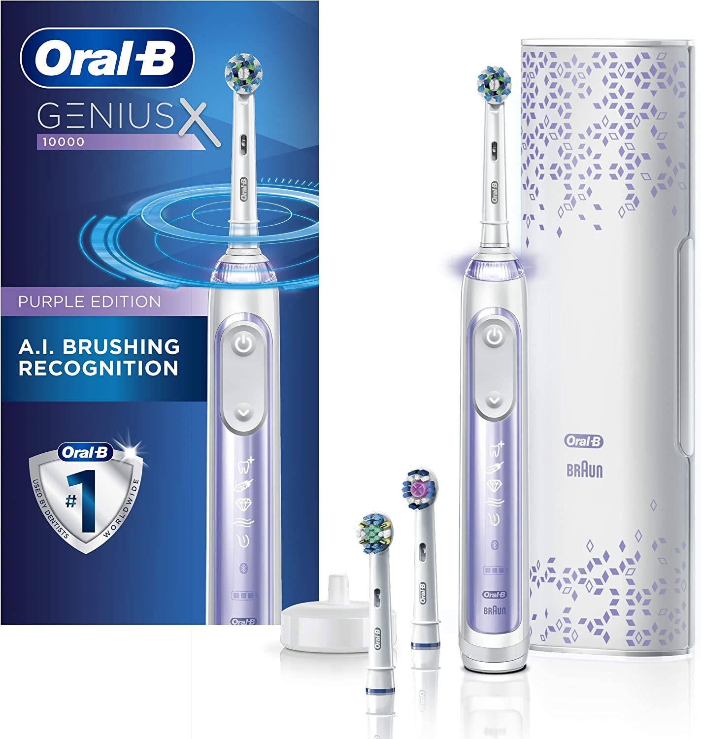 Oral-B GENIUS X Electric Toothbrush Orchid Purple