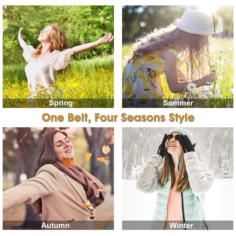 Retro elasticwidebeltsforwomendresses Ladies widestretchybeltswith interlockingbuckle