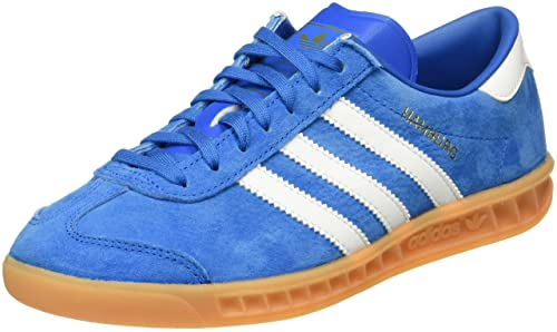 online retailer b5b50 944e6 adidas Unisex Adults Hamburg Low-Top Sneakers, Blau (BluebirdFTWR White