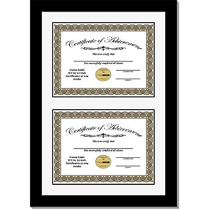 Amazon.com - CreativePF [14x20.5bk-w] Double Diploma Frame with ...