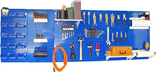 product image for Wall Control 30-WRK-800BUW Master Workbench Metal Pegboard Tool Organizer,Blue/White