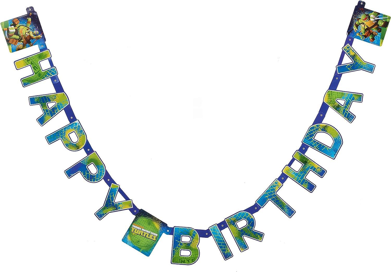 Teenage Mutant Ninja Turtles Birthday Party Banner, Party Supplies