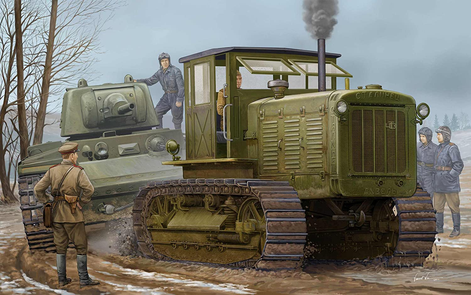 Trumpeter 05539 Modellbausatz Russian ChTZ S-65 Tractor with Cab1 Cab1 Cab1 bf50ad