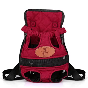 Amazon.com : Pet Backpack, ALLOMN Front Cat Dog Backpack Legs Out ...