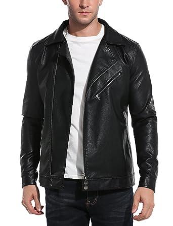 Jacket Cuirhomme Zearo Moto Faux Veste Homme qwqCOnxIFt