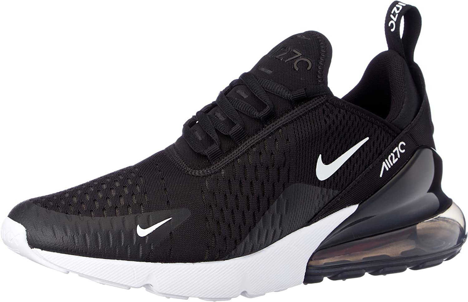 Nike Mens Air Max 270 Running Shoes Black Anthracite White Solar Red AH8050-002 Size