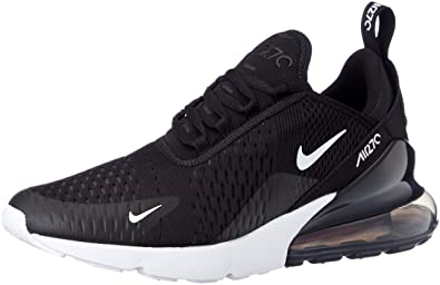 NIKE Mens Air Max 270 Running Shoes Black/White/Solar Red/Anthracite AH8050