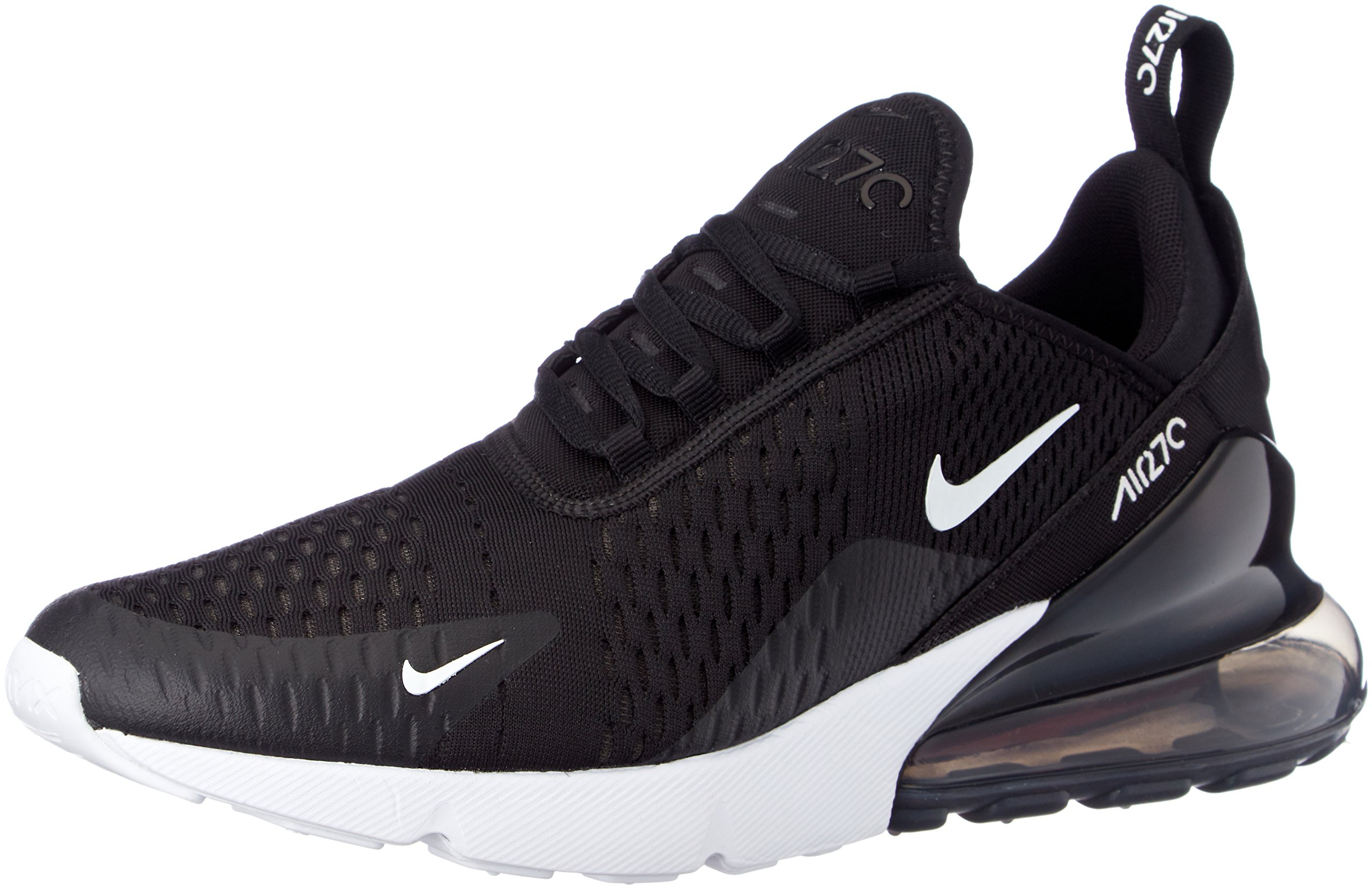 087b39fa35b450 Galleon - Nike Mens Air Max 270 Running Shoes Black White Solar Red Anthracite  AH8050-002 Size 8.5