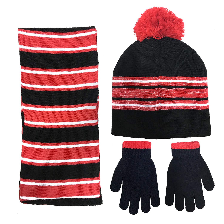 d0f0fe0c5bb Amazon.com  Disney Minnie Mouse Girls 3 Piece Beanie Hat Scarf and Glove  Set  4015   Clothing