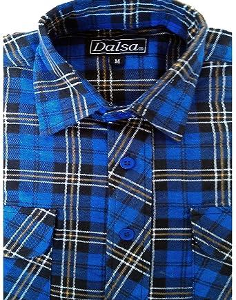 Mens Work Shirts Brushed Cotton Lumberjack Flannel Long Sleeve Check Shirt  (M daa3a9fea