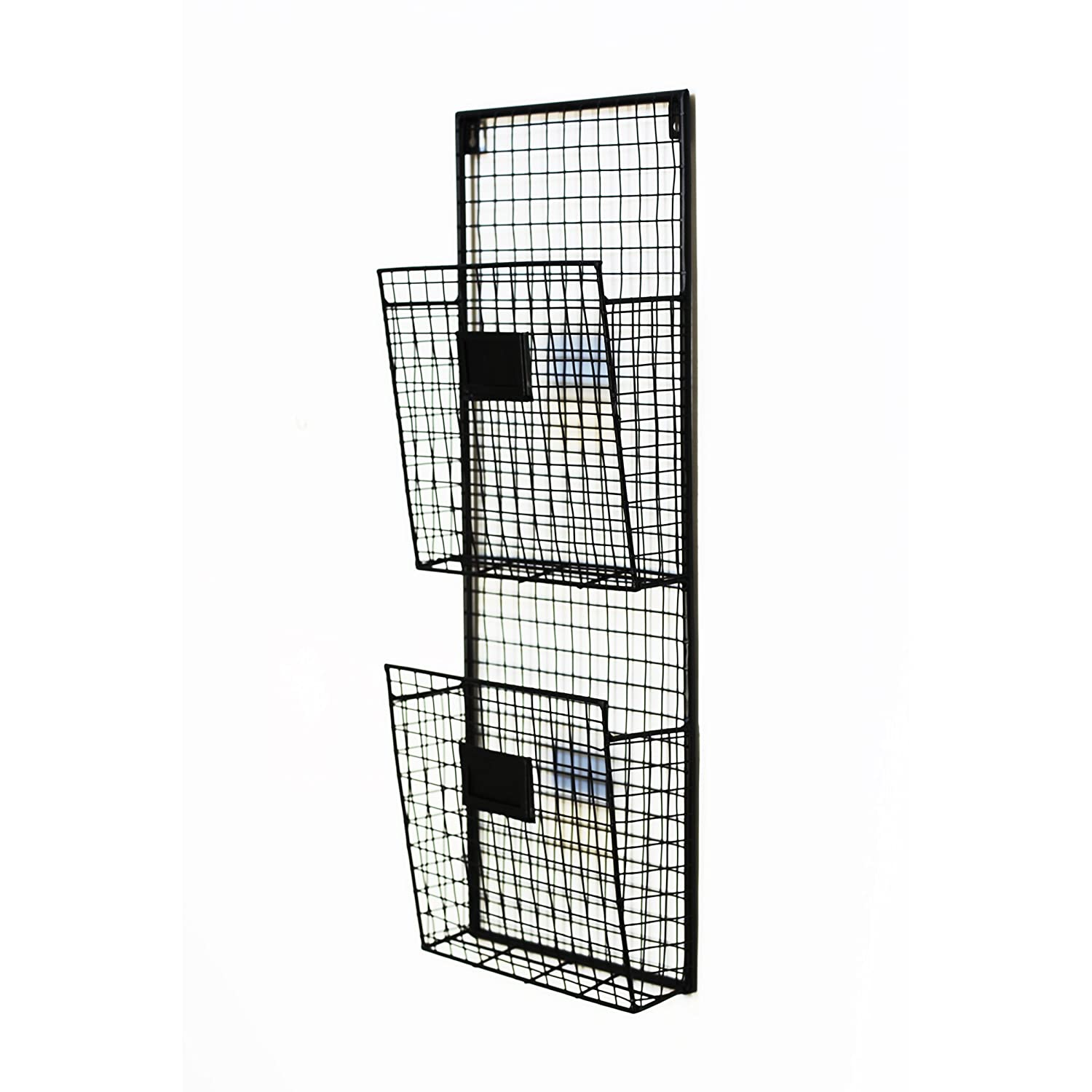Amazon.com: Black Metal Wall Double File Holder: Home & Kitchen