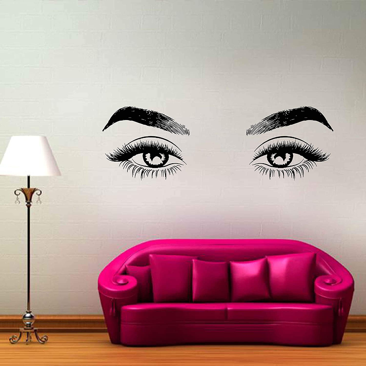 Amazon Com Eyes Wall Decals For Bedroom Eyes Wall Decal Eyelashes Wall Decoration Eyelash Decals For Cars Small Eyelash Stickers Art Makeup Wall Stickers Ik3363 Handmade