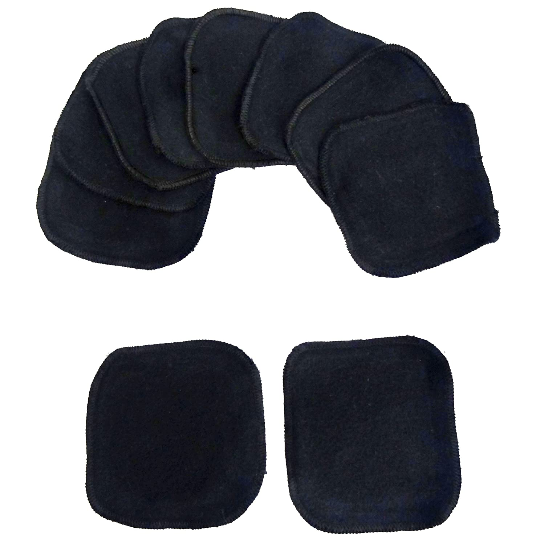 Toallitas de démaquillage, toallitas cosméticos, (negro), Super Soft - 5 pares, 10 piezas + filete de lavado: Amazon.es: Belleza