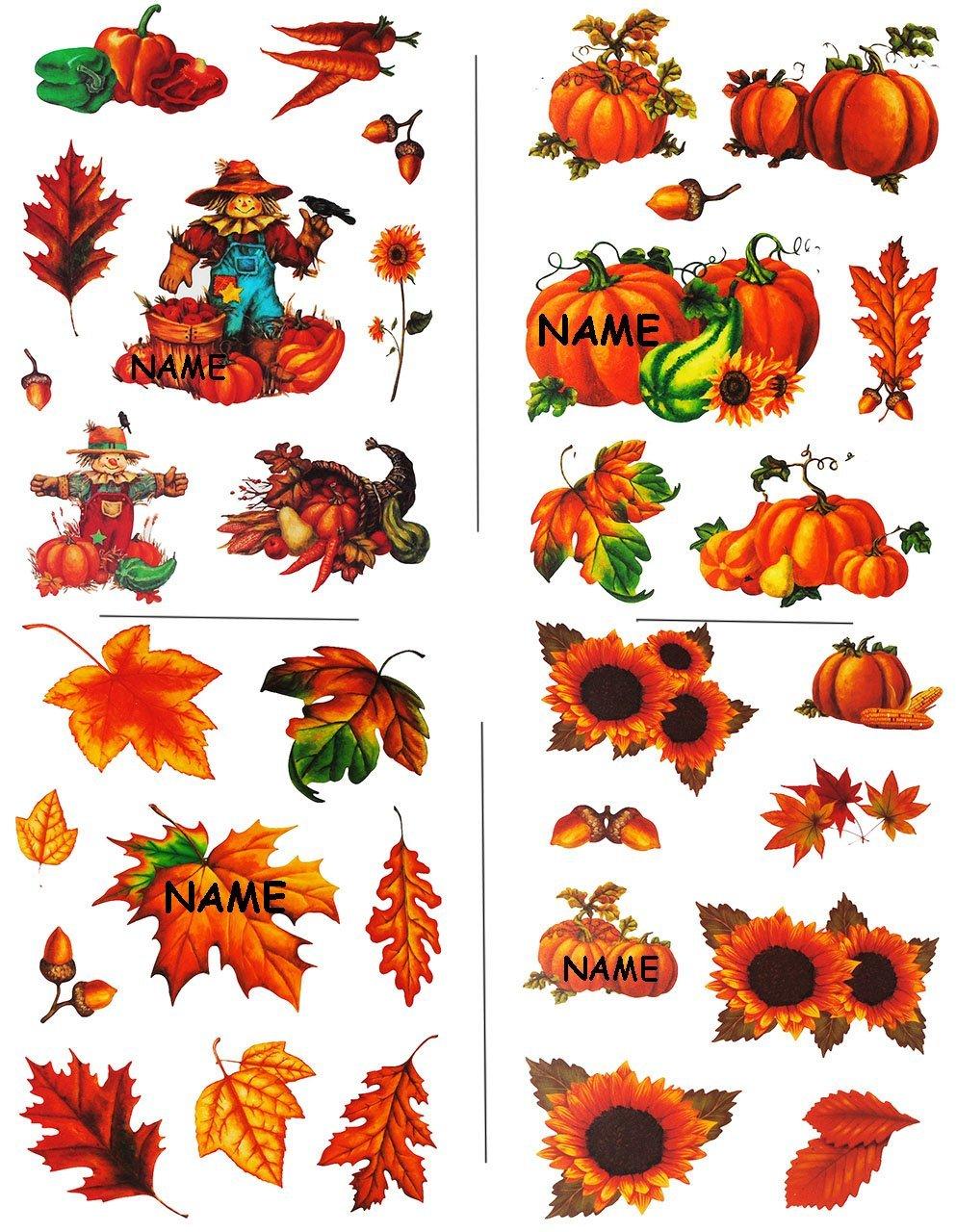 wiederverwendbar Motive Bl/ätter // Vogelscheuche Laubbl/ätter // Sonnenblume // K/ürbis Herbst Unbekannt 1 Bogen: statisch haftende Fensterbilder selbstklebe..