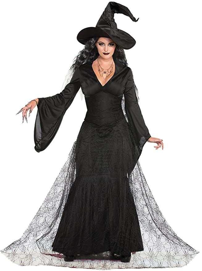 Amazon.com: Black Mist Witch Costume - Medium/Large - Dress Size 8 ...