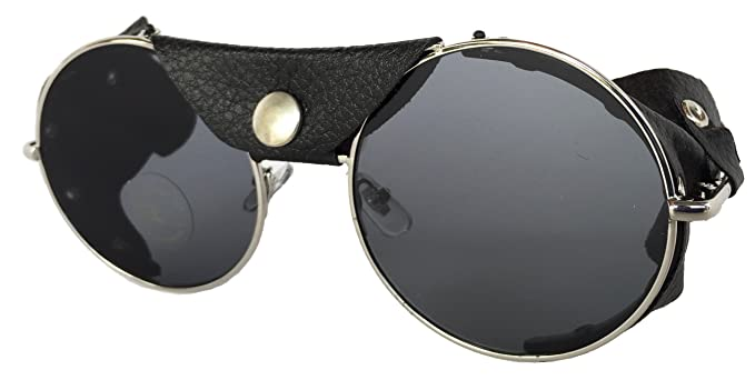 ea3ec29354932 Image Unavailable. Image not available for. Color  Road Vision Round Lens  Motorcycle Sunglasses (Chrome Frames