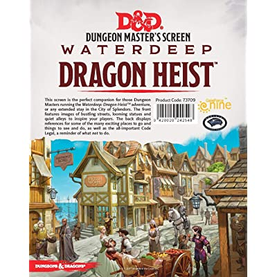 Gale Force Nine Dungeons & Dragons - Waterdeep Dragon Heist DM Screen: Toys & Games