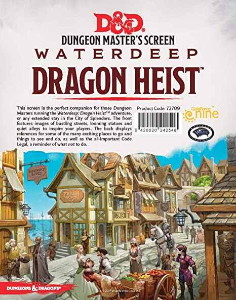 Dungeons & Dragons - Waterdeep Dragon Heist DM Screen