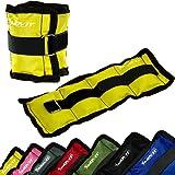 MOVIT® - Lot de 2 bracelets poids lestés pour chevilles et poignets - 2x 0,5 kg á 4,0 kg Couleurs différent
