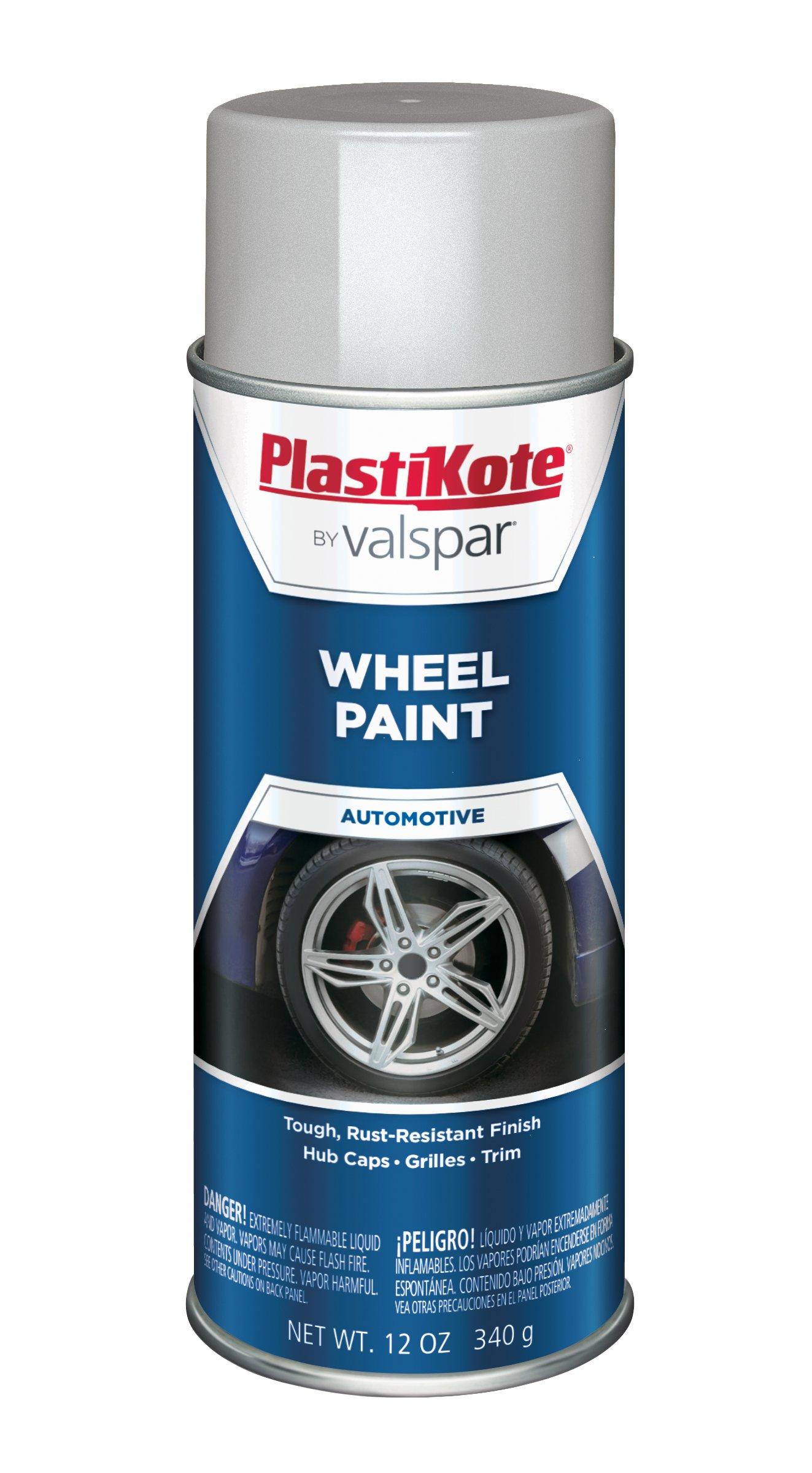PlastiKote 621 Silver Argent Wheel Paint - 12 oz.