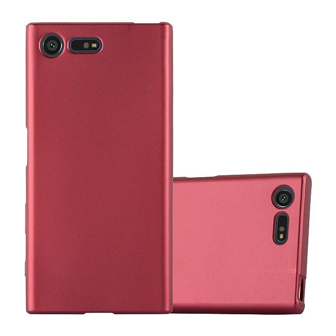 6 opinioni per Cadorabo Custodia per Sony Xperia X Compact in Rosso Metallico – Morbida Cover