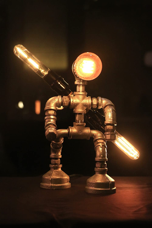 Saber with two swords, Star wars, Industrial Lamp, Desk lamp, Antique Table Lamp, Vintage Desk Lamp, Vintage Lighting, Table lamps for Living Room