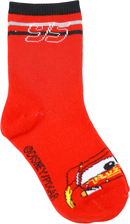Disney Boy's Cars 3-Pack Crew Socks: Clothing