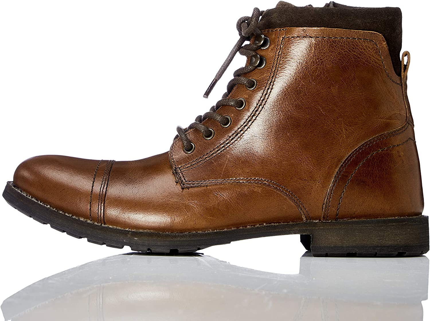 TALLA 40 EU. Marca Amazon - find. Max Zip Worker - Botas de motorista Hombre