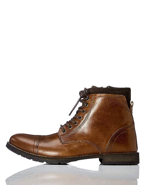 Klassische Herren Stiefel Amazon MarkeFindMax Worker Zip kiOXZTPu
