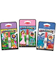 Melissa & Doug On The Go ColorBlast No-Mess Coloring Pad 3-Pack, Fairy, Princess, Sea Life (24 Color-Reveal Pictures, Invisible Ink Marker)