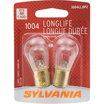 Amazon.com: SYLVANIA 1004 Long Life Miniature Bulb, (Contains 2 Bulbs): Automotive
