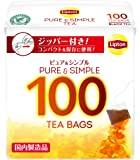 リプトン  ピュア&シンプルティーバッグ 100袋×3個