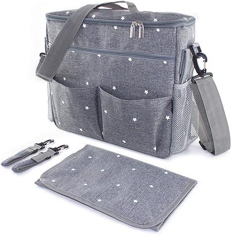 Bolso o bolsa con cambiador funcional para cochecito de bebé