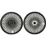 Autofy Porado 36 Spokes Black and Chrome Alloy Wheel (Set of 2)