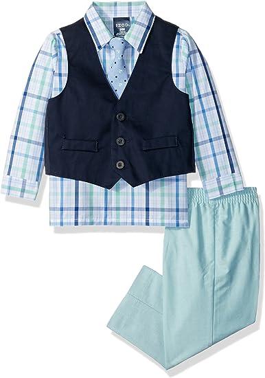 Izod Boys 4-Piece Vest Set with Dress Shirt Bow Tie Pants and Vest