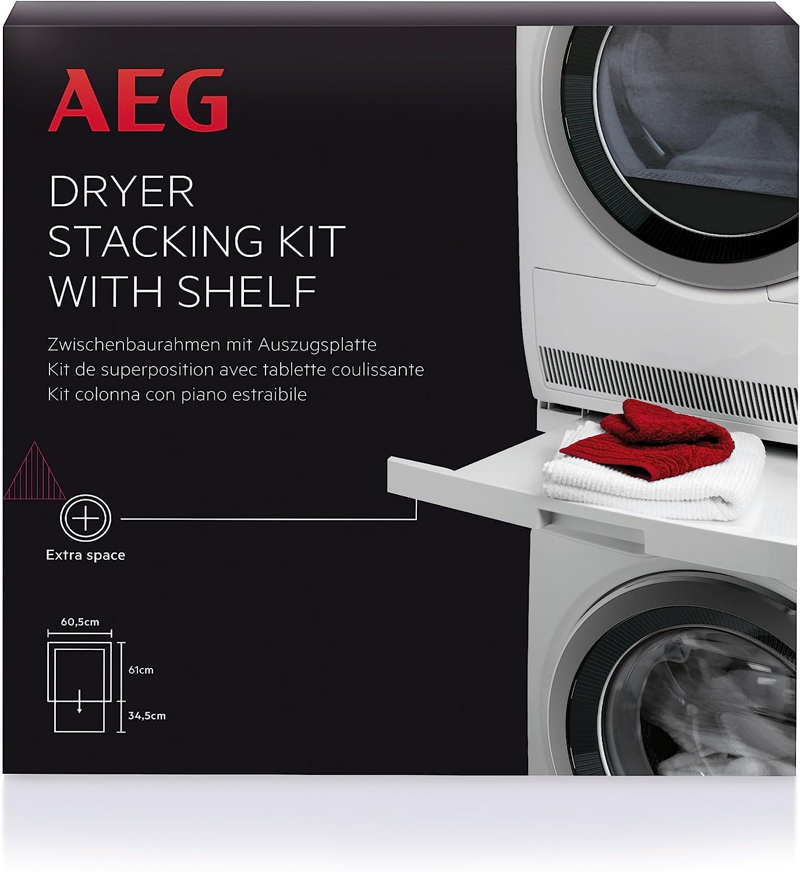 AEG SKP11 - Kit de apiladora para secadora con estante extraíble