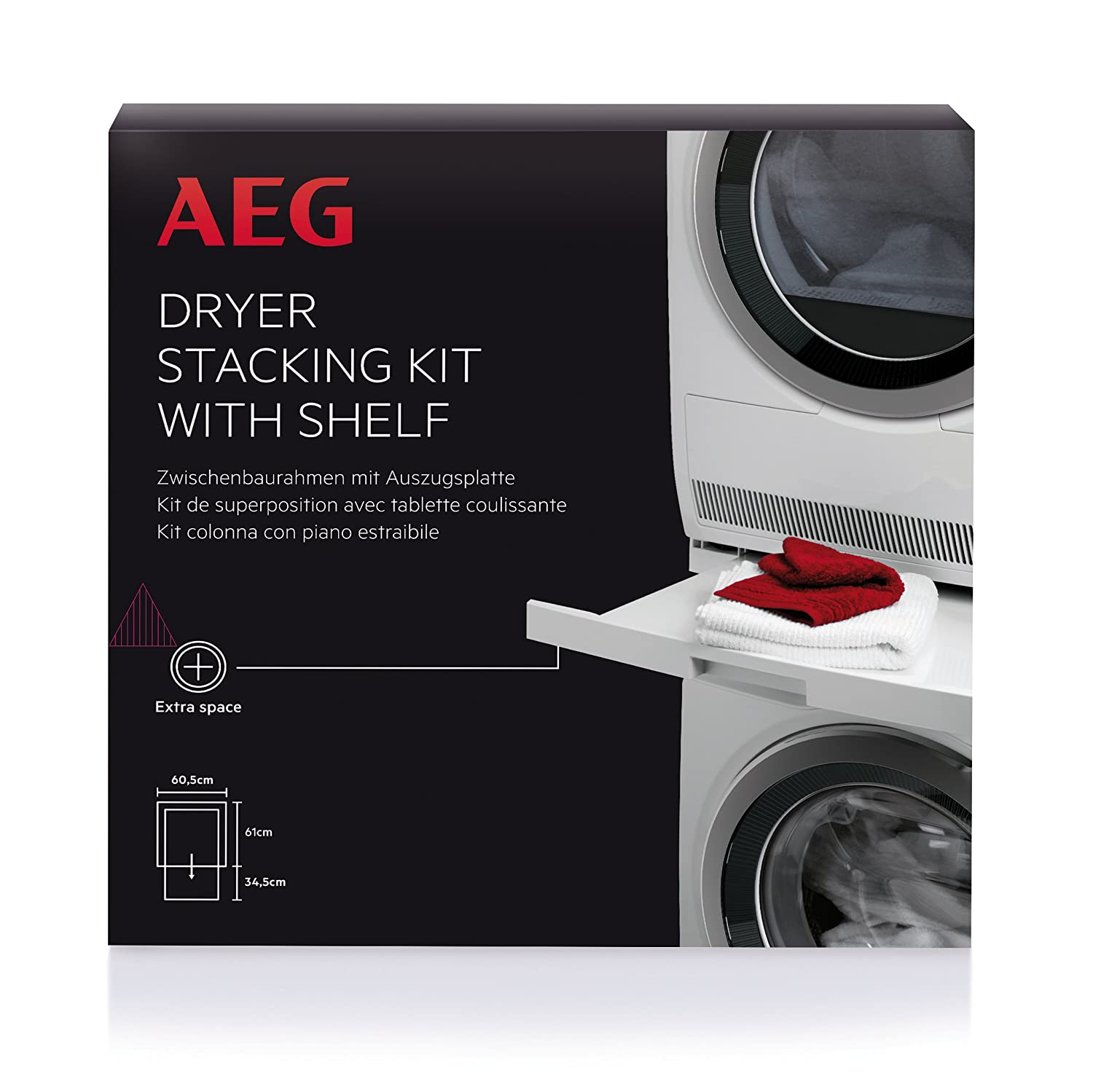 Electrolux AEG SKP11 Tumble Dryer Stack Kit with pull out shelf