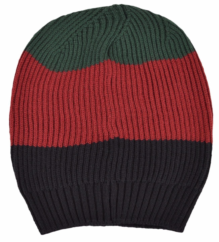 Gucci Men s Wool Red Green Black Interlocking GG Slouchy Beanie Hat   Amazon.ca  Clothing   Accessories 704e0329141b