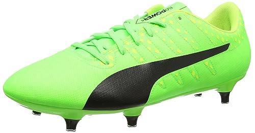 buy online a1e37 e28cf Puma Evopower Vigor 4 SG, Chaussures de Football Homme, Vert (Green Gecko  Black
