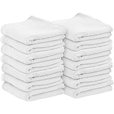 Utopia Towels Commercial Cotton Shop Towels - White Cleaning Rags (100 Pack): Automotive