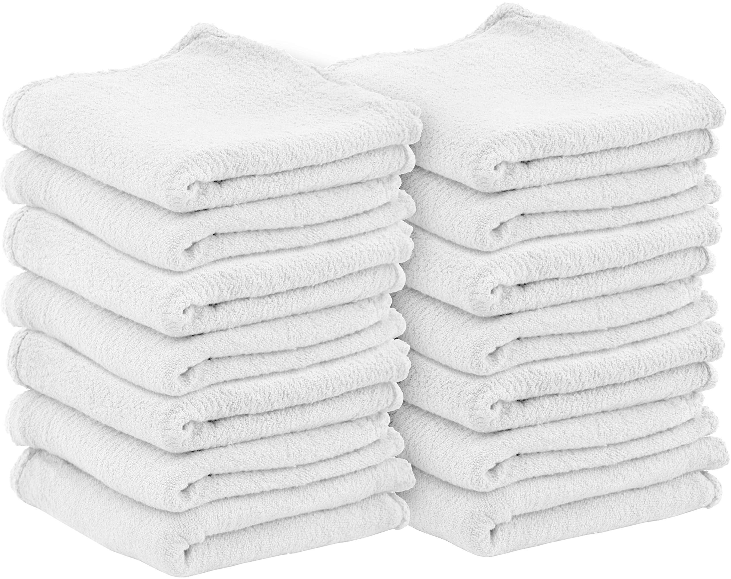 Utopia Towels Commercial Cotton Shop Towels - White (100 Pack) by Utopia Towels (Image #1)