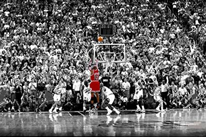 2cac1395f31 Image Unavailable. Image not available for. Color  Poster Michael Jordan  Chicago Bulls Last Shot 1998 (Basketball) Sports Print (24in x