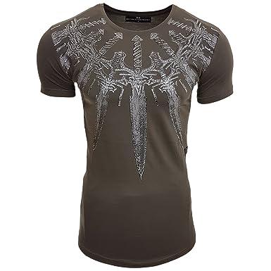 HERREN T-Shirts Druck Größe S M L M XL XXL kurzarm Text RN15111, Größe:S