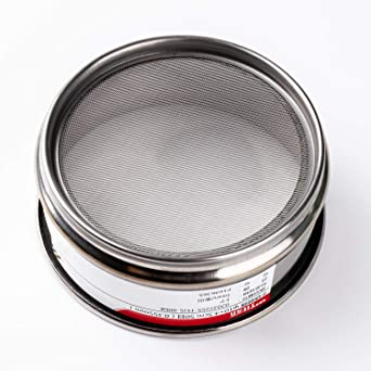 Adamas-Beta /φ10/×4.5cm 40 Mesh 304 Stainless Lab Sieves Economy Test Sieve 304 Stainless Steel Wire Cloth(0.45mm)