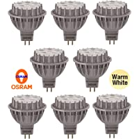 8 x OSRAM DIMMABLE LED Downlight Globes/Bulbs 7W 12V MR16 Warm White