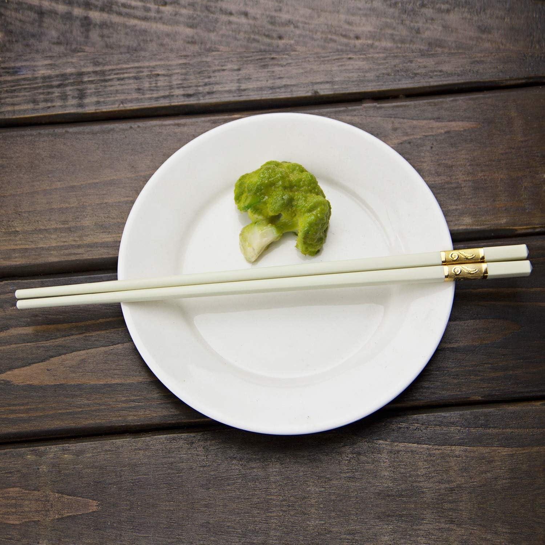 Wei/ß 5-Paar japanische Essst/äbchen Chinesische Wiederverwendbare sp/ülmaschinenfeste Sushi-Lebensmittel rutschfeste Essst/äbchen zum Essen AOOSY Fiberglas Essst/äbchen