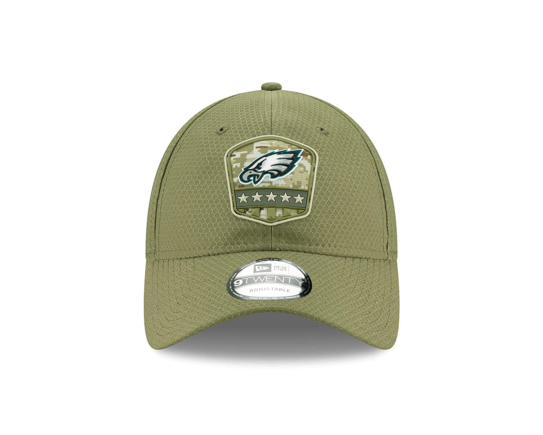 New Era Philadelphia Eagles 9twenty Adjustable Cap On Field 2019 Salute To Service