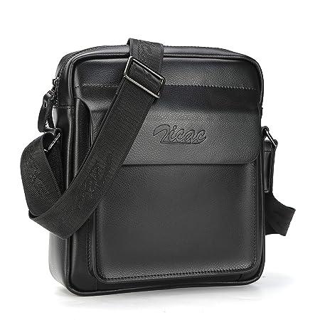 Men Cow Split Leather Messenger Shoulder Bag Office Handbag Ipad Air